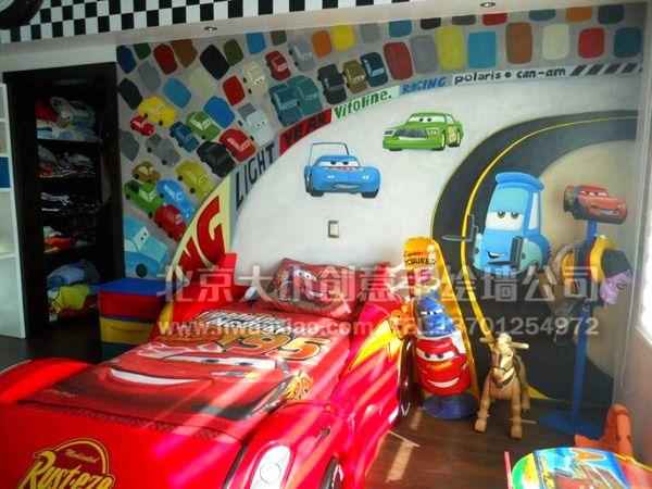 北京墙绘公司 手绘墙 墙体彩绘 墙绘价格 手绘壁画 儿童医院壁画 汽车