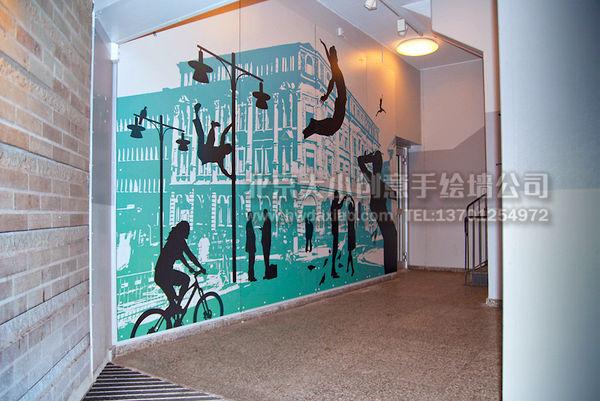 商场手绘墙 手绘墙素材