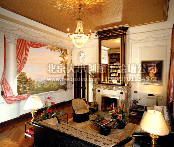 欧式古典风格手绘墙壁画