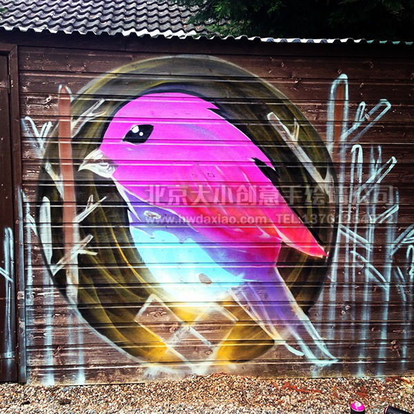 创意墙绘 办公室手绘墙 外墙彩绘 街道壁画 车库墙绘 走廊壁画 学校