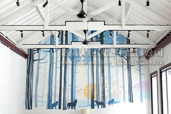 餐厅手绘墙 酒吧墙绘 咖啡厅墙绘 店铺手绘墙 办公室手绘墙 外墙壁画