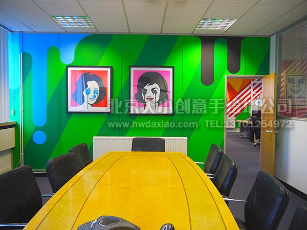创意墙绘 办公室手绘墙 楼梯间壁画 橱窗彩绘 车库墙绘 走廊壁画 时尚