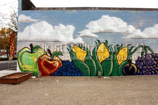 餐厅手绘墙 商场手绘墙 手绘墙素材 北京墙绘公司 手绘墙 墙体彩绘