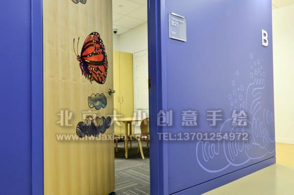 温馨森林动物温馨儿童医院手绘墙壁画