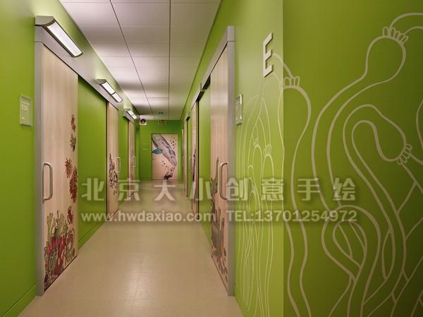 温馨森林动物温馨儿童医院手绘墙壁画 墙体彩绘