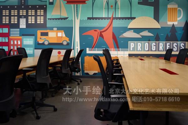 餐厅手绘墙 咖啡厅墙绘 橱窗彩绘 办公室手绘墙 会议室手绘墙 城市