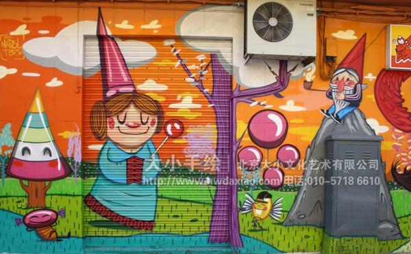 北京墙绘公司 街头手绘艺术 手绘墙 墙体彩绘 墙绘价格 手绘壁画 卡通
