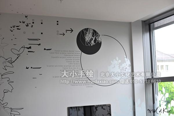 办公室手绘墙 创意墙绘