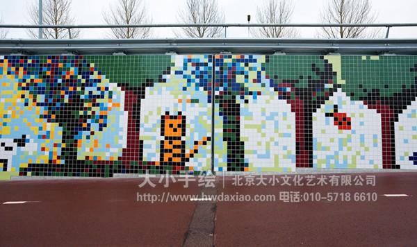 街道创意墙绘 瓷砖壁画 外墙壁画 户外彩绘 马赛克壁画 走廊墙绘 文化