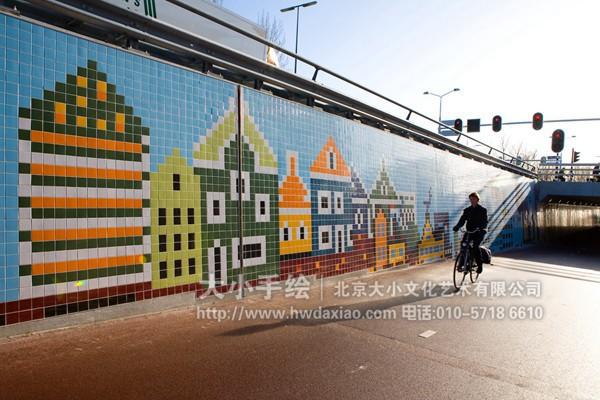 街道户外手绘墙壁画