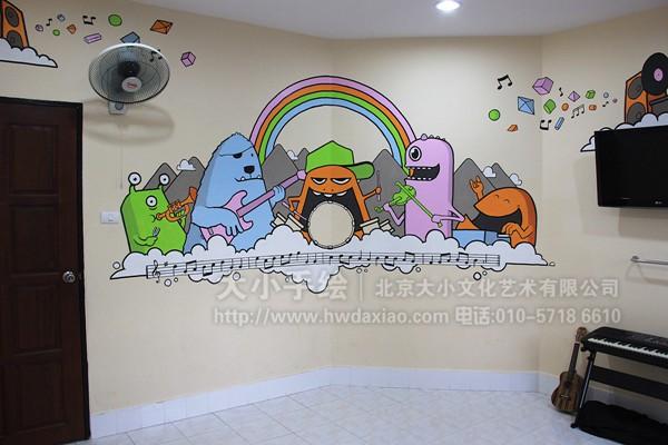 围墙手绘墙 校园墙面彩绘