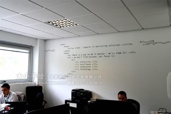 办公室手绘墙壁画
