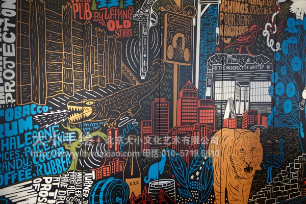 创意墙绘 办公手绘墙 涂鸦壁画