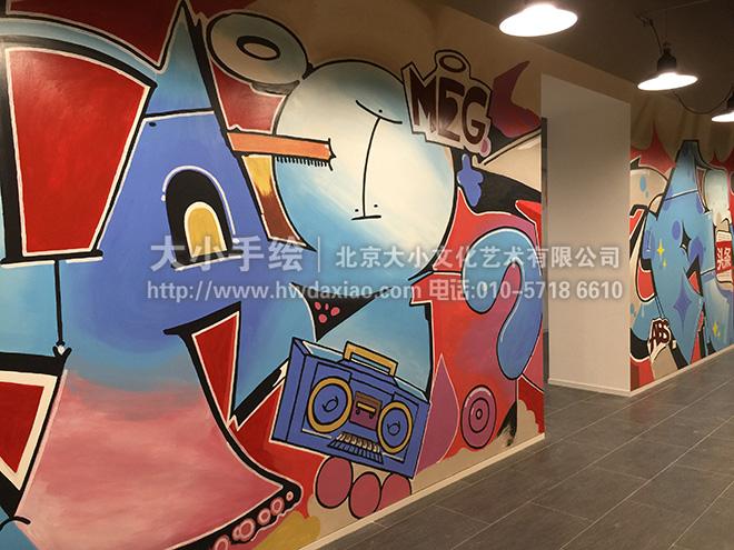 互联网公司 创意墙绘 办公手绘墙 涂鸦壁画 城市 餐厅手绘墙 商场手绘