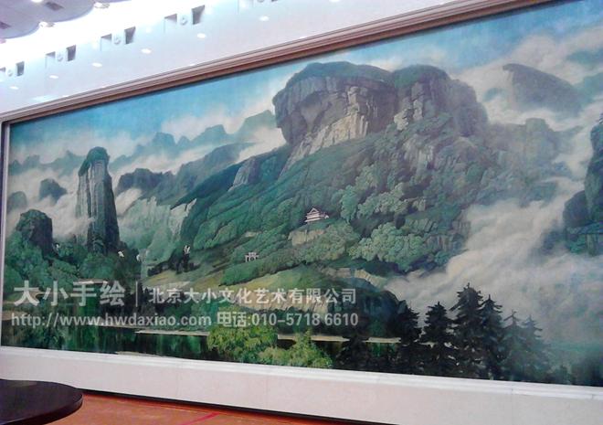 人民大会堂经典壁画欣赏 墙体彩绘