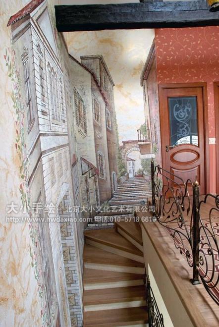 房屋设计图彩绘