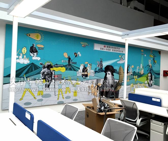 创意墙绘 办公手绘墙 涂鸦壁画 波普艺术 森林壁画 壁纸墙画 立体浮雕