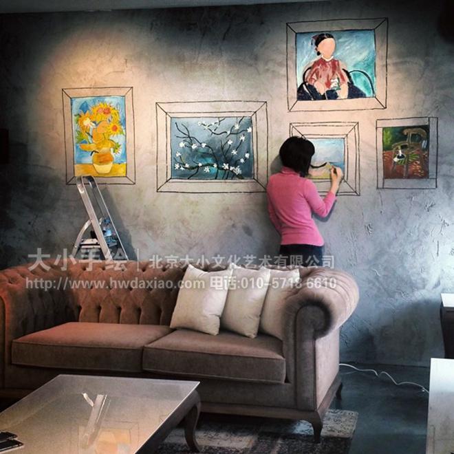 墙体彩绘 手绘墙壁画