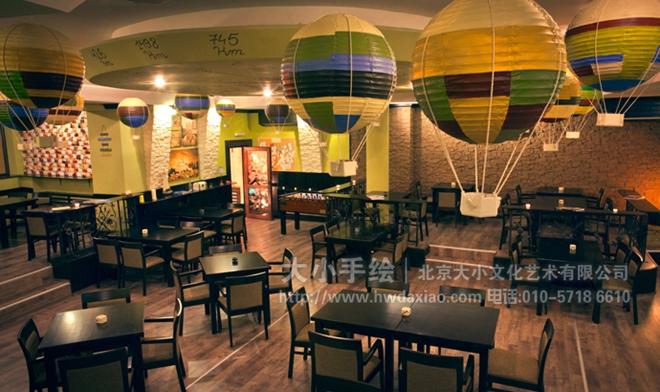 酒吧手绘墙 餐厅手绘墙 手绘墙素材 北京墙绘公司 手绘墙 墙体彩绘 墙