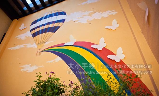 飞机 商场手绘墙