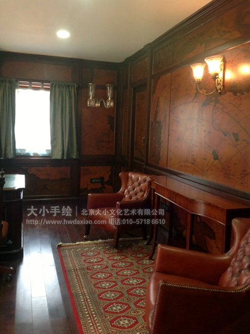 客厅墙体彩绘图片大全欧式