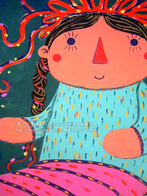 童趣俏皮玩具幼儿园室外手绘墙壁画 墙体彩绘