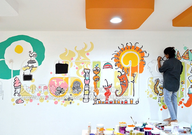 """同时,也可以关注我们的微信公众平台大小创意壁画,那里有更多好玩有趣的手绘作品欣赏。 [[img ALT=""""创意墙绘 办公手绘墙 餐厅手绘墙 美食 卡通 啤酒 装置墙绘 城市 旅行 酒吧手绘墙 文化墙彩绘 手绘墙素材 北京墙绘公司 手绘墙 墙体彩绘 墙绘价格 手绘壁画"""" src=""""http://simg."""