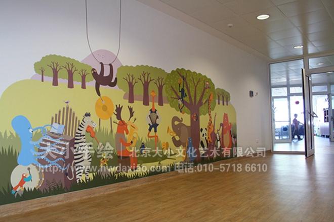 创意墙绘 教室壁画 儿童房手绘墙