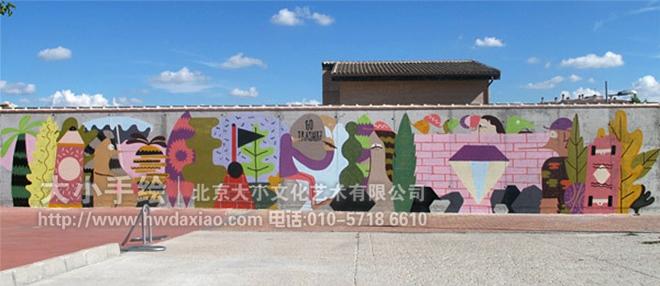街道创意墙绘 外墙壁画 仓库壁画 楼梯外墙壁画 涂鸦 街头墙绘 奇思妙