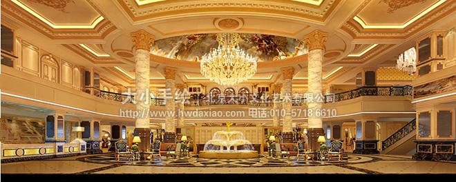 餐厅手绘墙 咖啡厅墙绘 酒店大厅壁画 天顶壁画 穹顶手绘 英国 天使