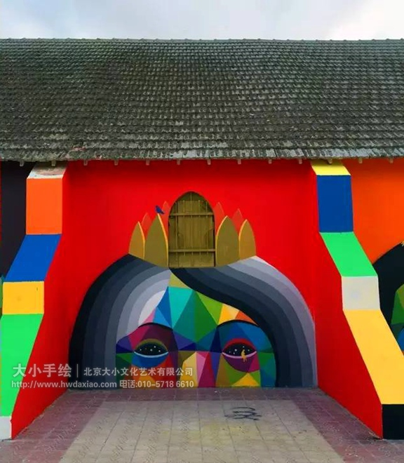 外墙壁画 仓库壁画 楼梯外墙壁画 涂鸦 街头墙绘 教堂 狮子 熊 色块