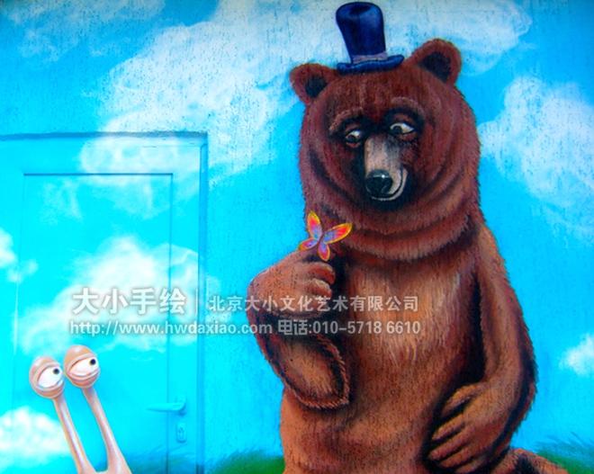 熊 蓝天白云