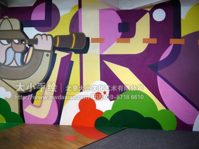 文化墙彩绘 手绘墙素材