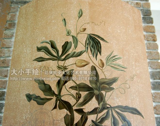 花卉墙绘素材矢量图