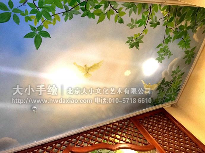办公室手绘墙,北京墙绘
