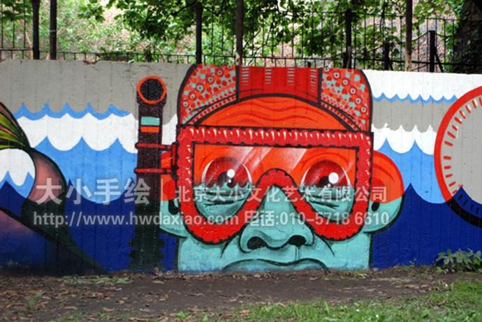 奇奇怪怪的城市街头涂鸦手绘墙壁画 墙体彩绘