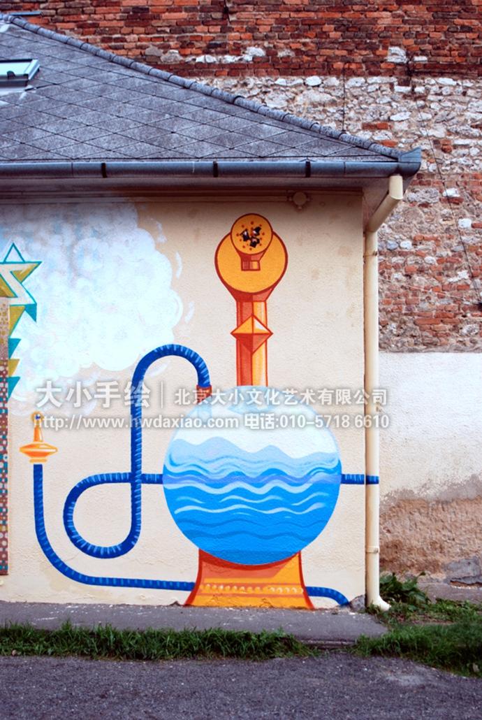 奇奇怪怪的城市街头涂鸦手绘墙壁画 墙体彩绘图片