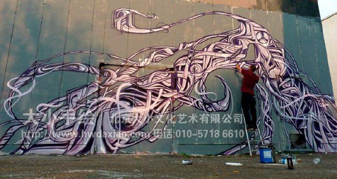 户外墙绘,涂鸦墙,几何彩绘,街头艺术,墙体彩绘,创意壁画,北京墙绘公司