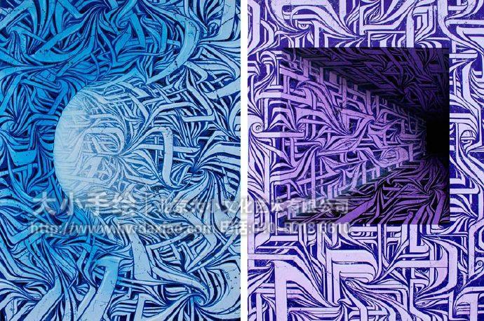 将涂鸦手绘墙变成艺术 墙体彩绘