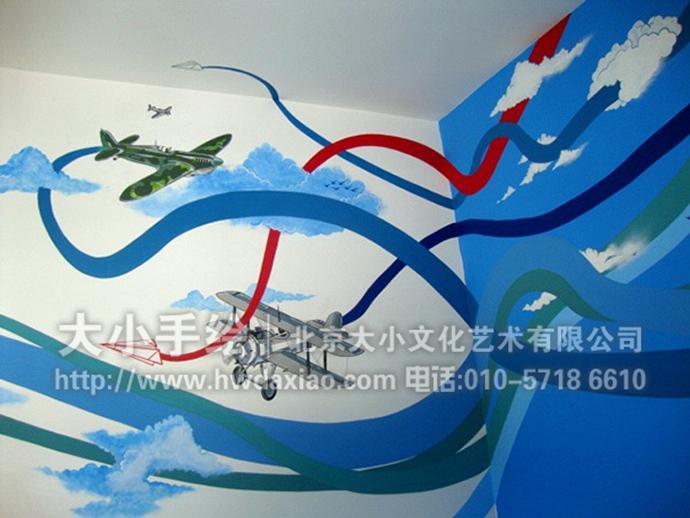 幼儿园飞机主题墙布置