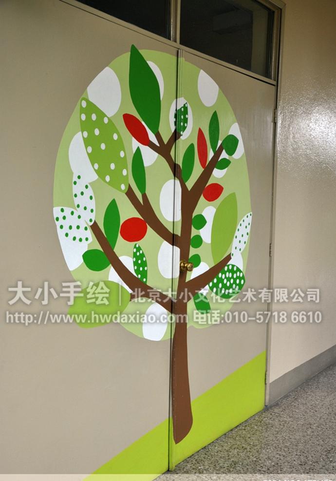 幼儿园手绘墙,走廊壁画