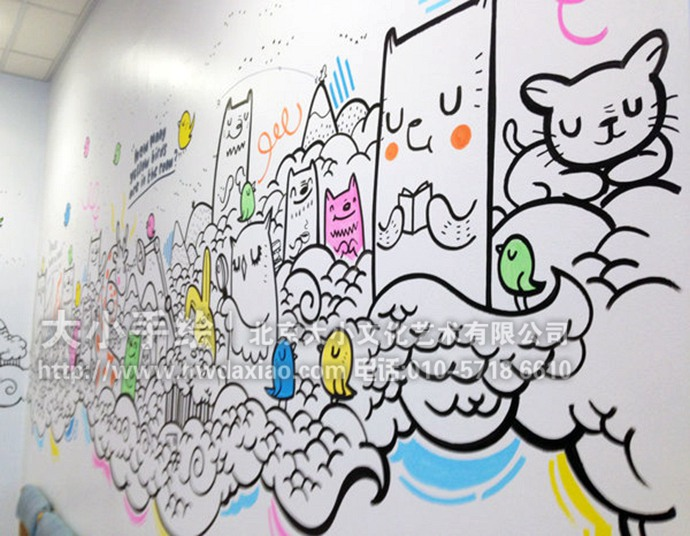 卡通动物,动物乐园,医院彩绘