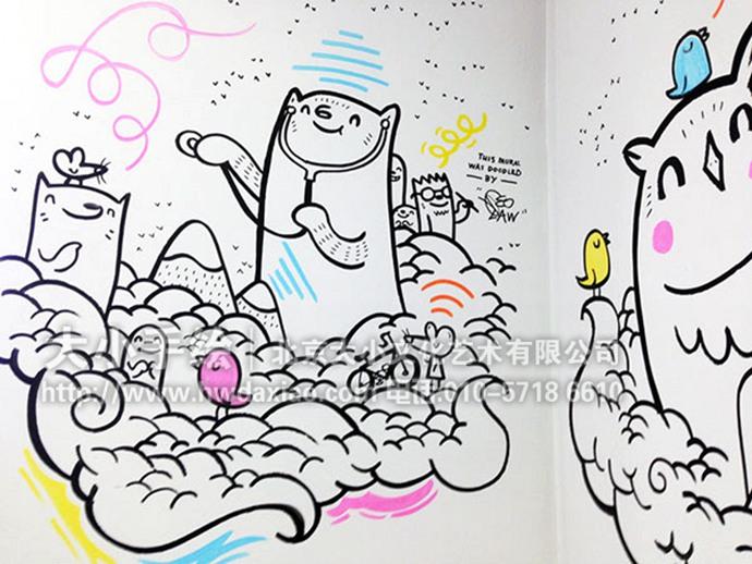 儿童医院手绘墙,卡通动物,动物乐园,医院彩绘,幼儿园手绘墙,早教机构