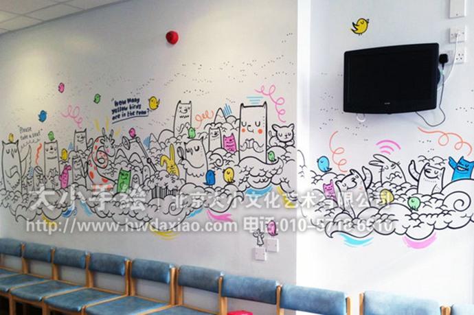 动物乐园,医院彩绘,幼儿园手绘墙