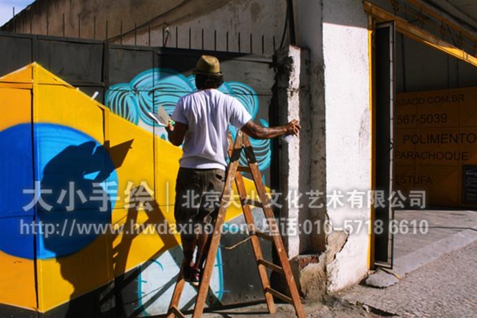 巴西奥运街头涂鸦艺术装饰手绘墙壁画图片