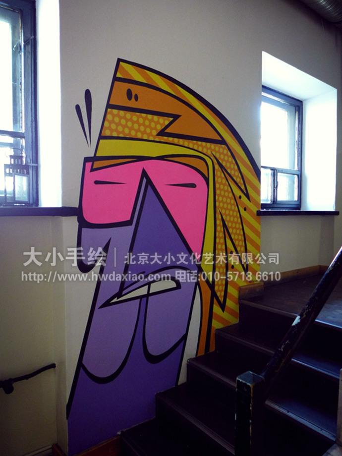 派对彩绘,抽象人物墙绘,乐队壁画,餐厅手绘墙,办公室手绘墙,店铺手绘