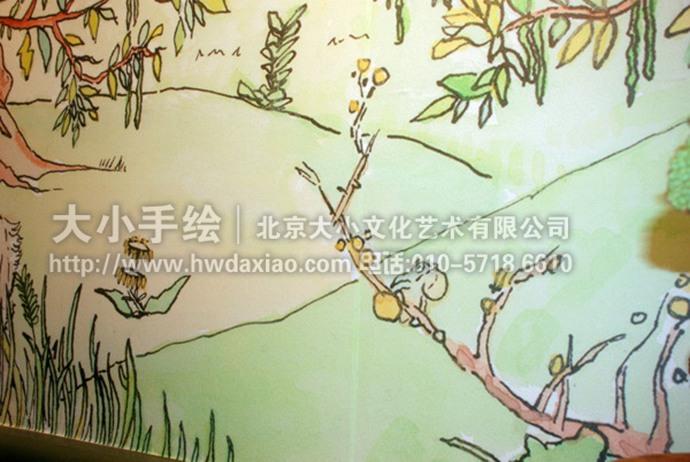 业余植物手绘墙