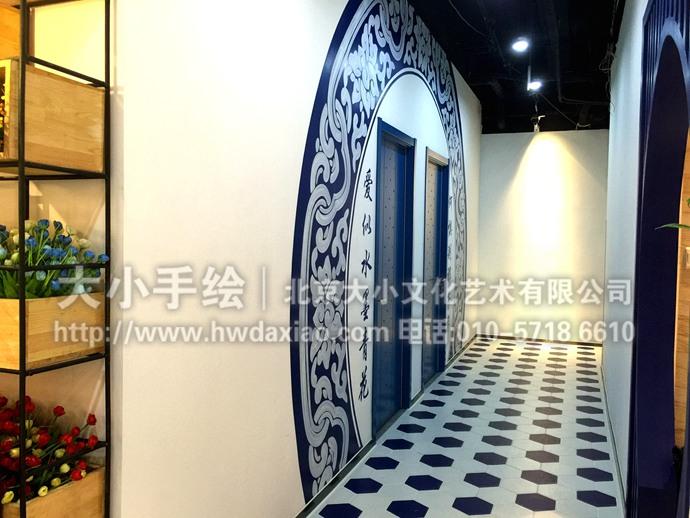 古典彩绘,走廊壁画图片