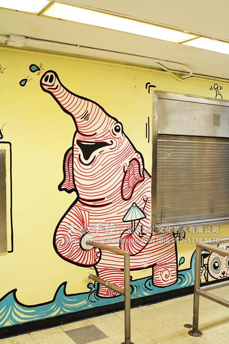 奇奇怪怪动物乐园办公室手绘墙壁画