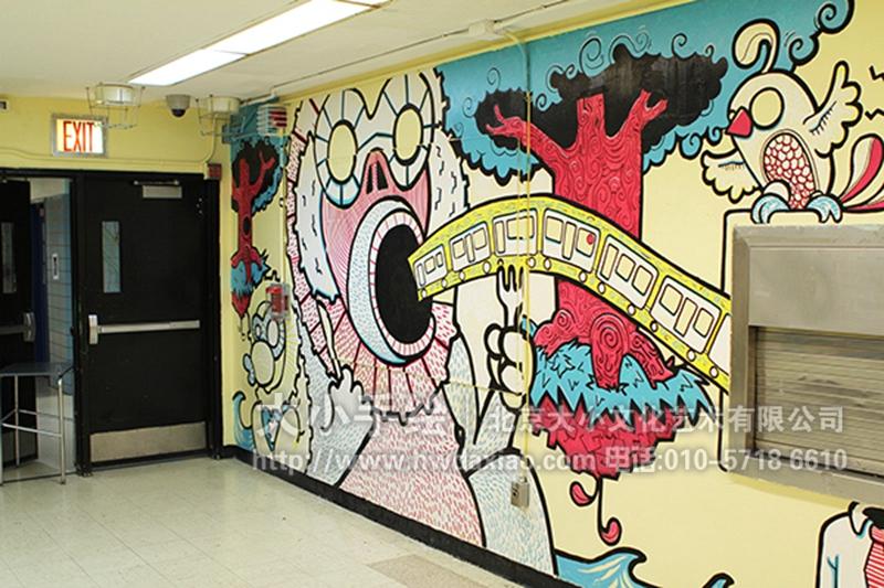 手绘墙壁画创意详情请点击>http://www.hwdaxiao.